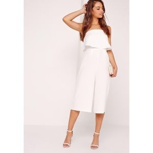 Missguided Crepe Double Layer Culotte Jumpsuit